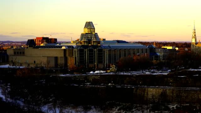 vidéos et rushes de laps de temps: ottawa winter - parliament hill ottawa