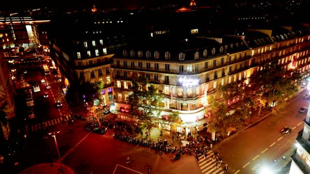 time-lapse:paris at night - tourism stock videos & royalty-free footage