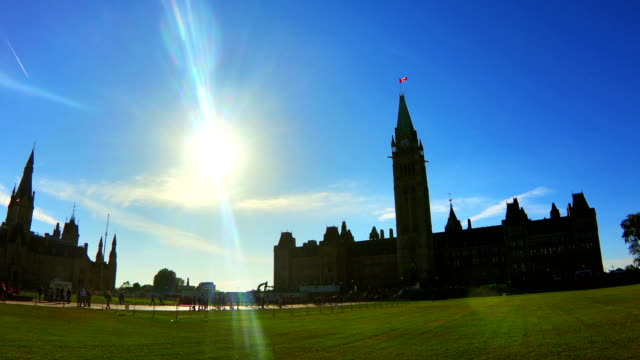 time-lapse:parliament hill of canada ,ottawa - tower stock videos & royalty-free footage