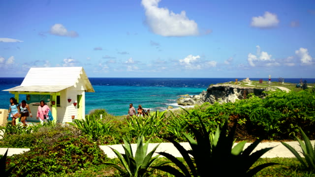 time-lapse:perfect tropical beach in isla mujeres - cozumel stock videos and b-roll footage