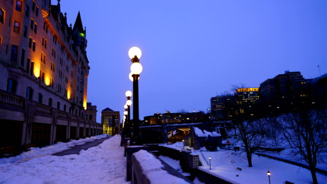 time-lapse:rideau canal and bytown museum in ottawa, canada - rideau canal stock videos & royalty-free footage