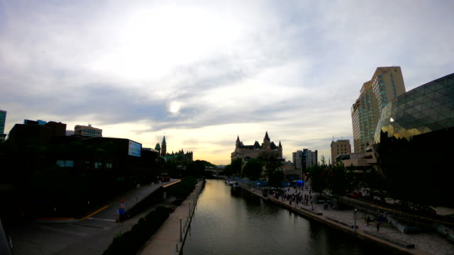 time-lapse:rideau canal - rideau canal stock videos & royalty-free footage