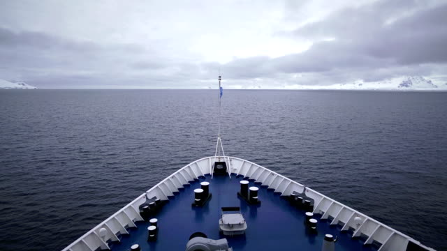time-lapse:ship in antarctica - tied bow stock videos & royalty-free footage