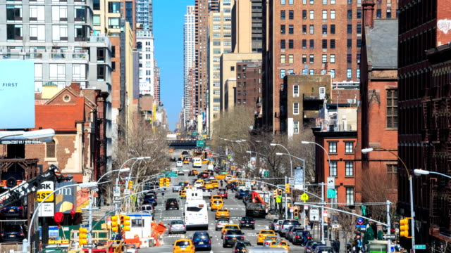hd time-lapse:streets of new-york - physical pressure stock videos & royalty-free footage