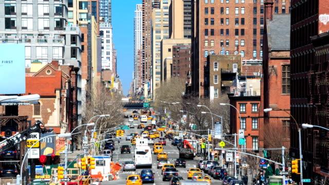 vidéos et rushes de hd time-lapse :  rues de new-york - pression physique
