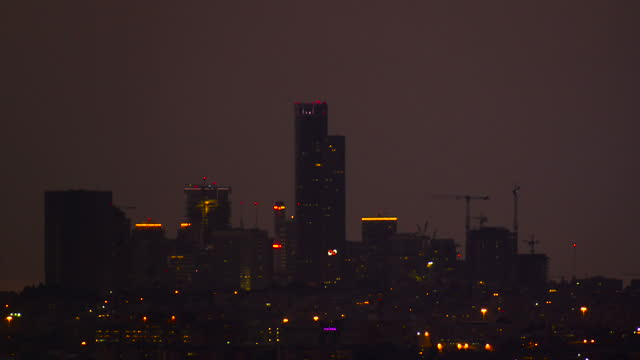 Timelapse-Tel Aviv City From Day to night