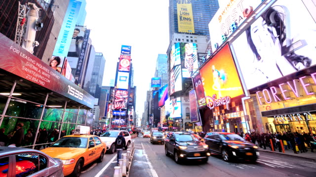 hd time-lapse:times square, new york city - 2014 stock videos and b-roll footage