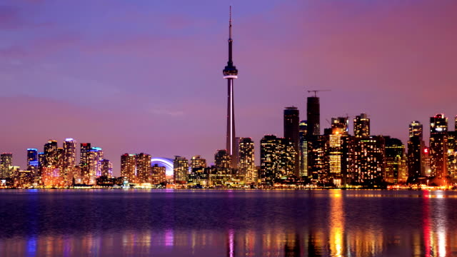 HD Time-lapse:Toronto Skyline, Canada