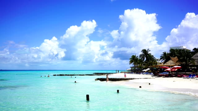 time-lapse:tropical beach resort.mexico - cancun stock videos & royalty-free footage