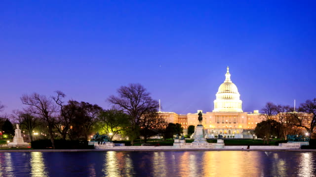 hd time-lapse:u.s capitol in washington dc - capitol building washington dc stock videos and b-roll footage