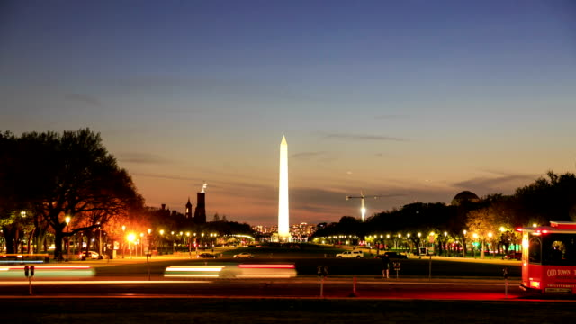 HD Time-lapse:Washington Monument in Washington DC