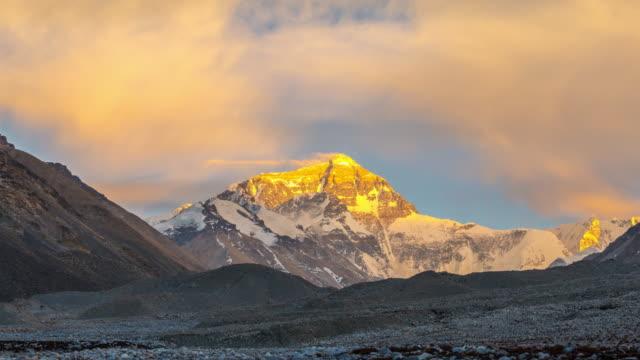 夕暮れの Timelpase Scenec エベレスト山、ヒマラヤ山脈
