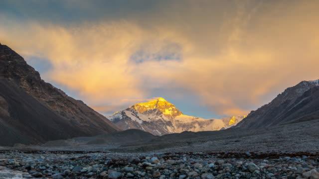 Timelpase Sunset Scenec of Mt. Everest, Himalayas