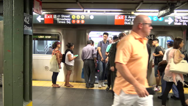 Times Square, #7 Subway Platform, New York City