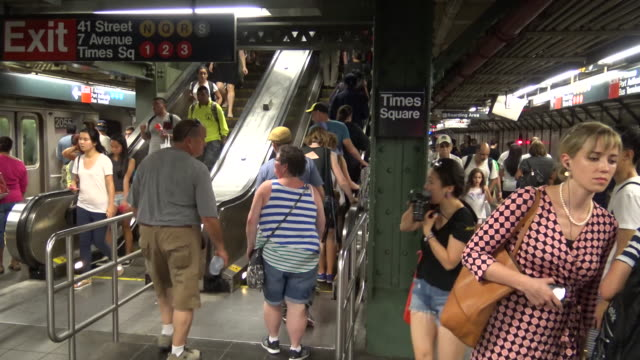 Times Square, #7 Subway Platform, New York City