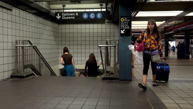 Times Square, A, C, E, Subway Platform, New York City