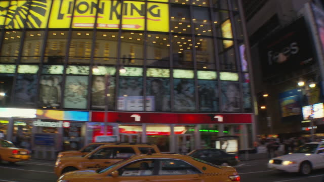 ws pan times square at dusk / new york city, new york, usa - electronic billboard stock videos and b-roll footage