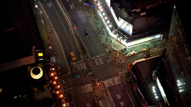 Times Square At Night  - Aerial View - New York,  New York County,  United States