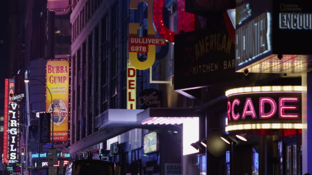 times square - broadway - musical theater stock videos and b-roll footage