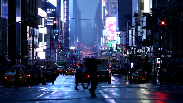 times square city life - crosswalk sign stock videos & royalty-free footage
