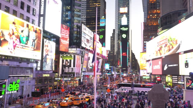times square in manhattan, new york city usa - new york stato video stock e b–roll
