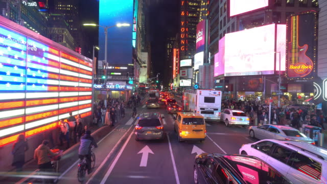 times square in manhattan, new york city usa - broadway manhattan video stock e b–roll