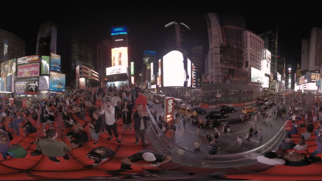 360 vr times square in manhattan new york usa - 360 stock videos & royalty-free footage