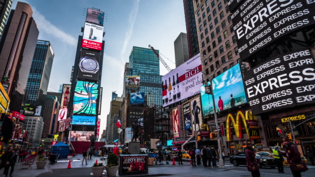 times square in new york city, usa - banner sign stock videos & royalty-free footage