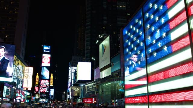 times square a new york - new york stato video stock e b–roll