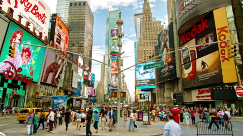 times square in new york - advertisement stock videos & royalty-free footage
