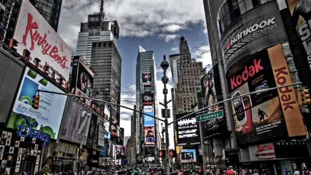 ニューヨークのタイムズスクエア - スクエア点の映像素材/bロール