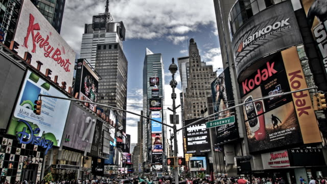 times square in new york - manhattan theater district stock videos and b-roll footage