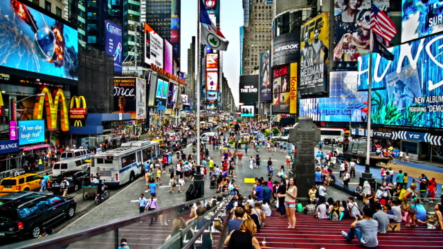 Times Square in the afternoon, NYC, US