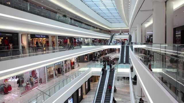 vídeos de stock e filmes b-roll de times square mall / yeongdeungpo-gu, seoul, south korea - viciado em compras