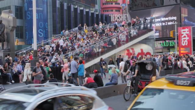 times square, manhattan, new york city, new york, usa, north america - north york stock videos & royalty-free footage