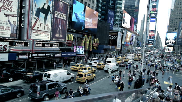 times square, manhattan, new york, usa - manhattan theater district stock videos and b-roll footage
