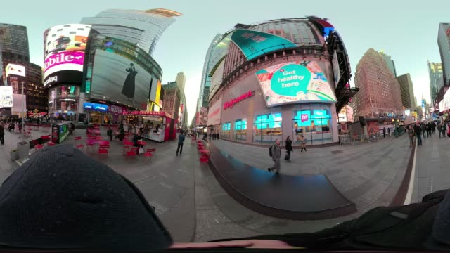 360 VR Times Square New York City point of view walking