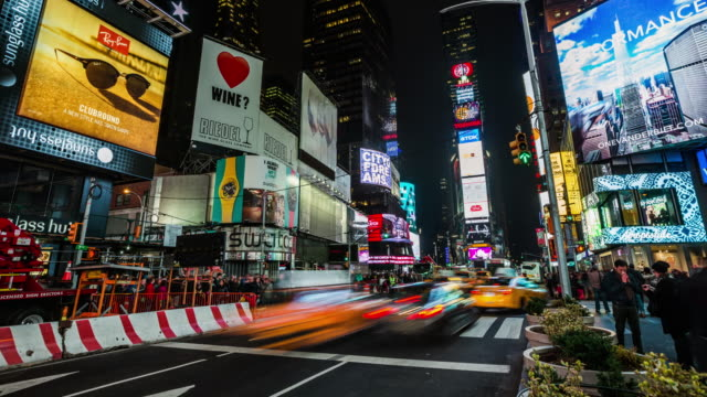 TIME LAPSE: Times Square New York City, USA
