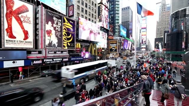 hd: times square new york city - commercial sign stock videos & royalty-free footage