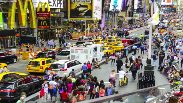 time lapse, times square, new york city - broadway manhattan video stock e b–roll