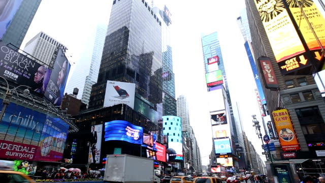 times square, new york city - manhattan theater district stock videos and b-roll footage