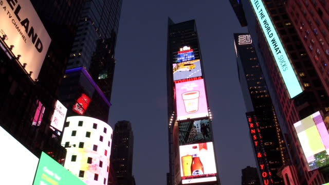 times square new york city - panning stock videos & royalty-free footage
