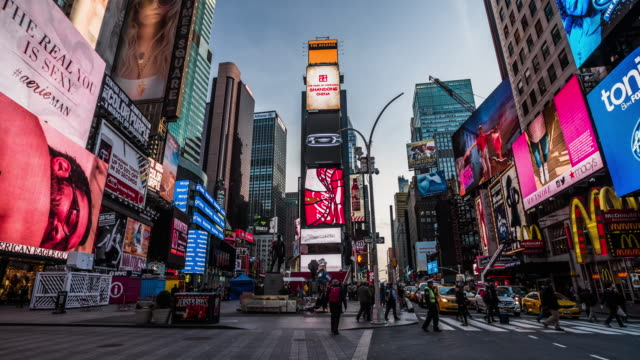 times square new york city - banner sign stock videos & royalty-free footage