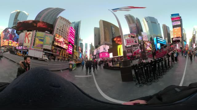 360 VR Times Square New York City POV walking afternoon