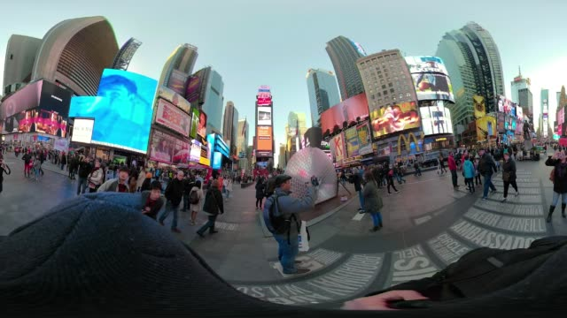 360 VR Times Square New York City POV walking day
