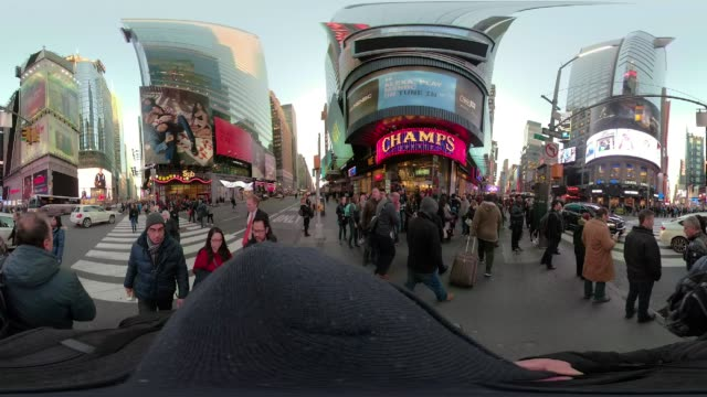 360 VR Times Square New York City walking point of view