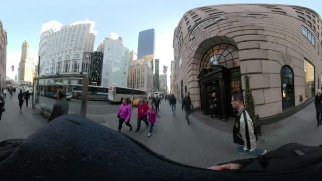 360 VR Times Square New York City POV walking