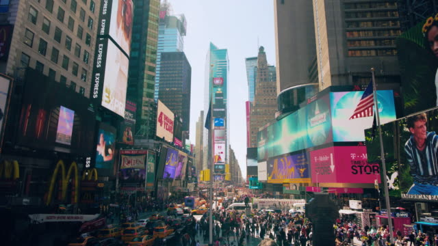 times square , new york, usa - times square manhattan stock videos & royalty-free footage