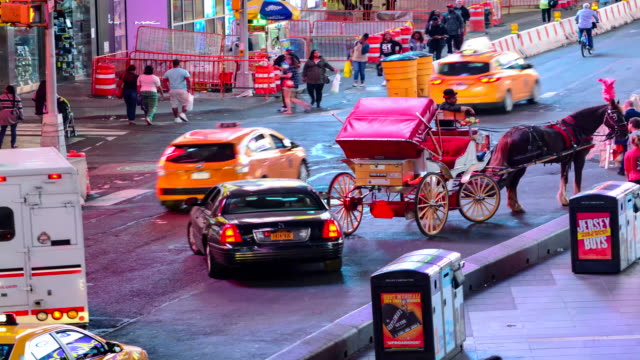 TIME LAPSE, Times Square, Night-Time, New York City