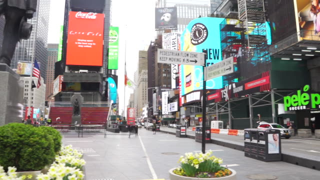 times square pandemic slow motion - times square manhattan stock videos & royalty-free footage